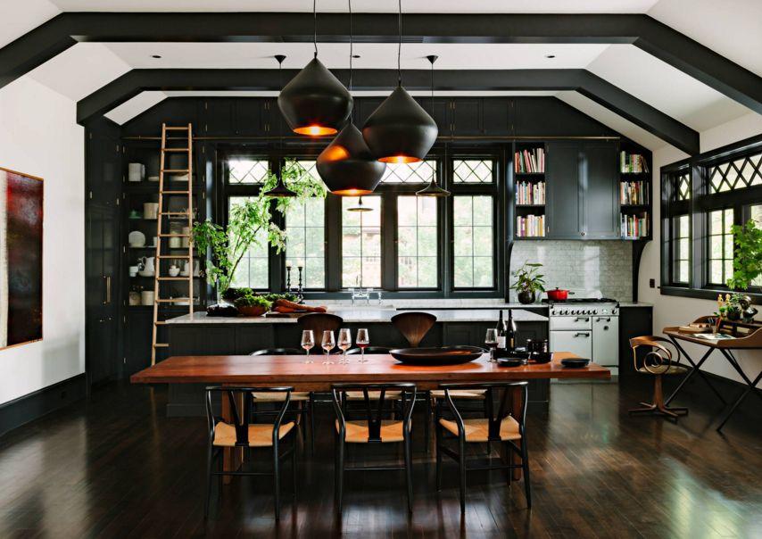 thiết kế nhà bếp tông tối