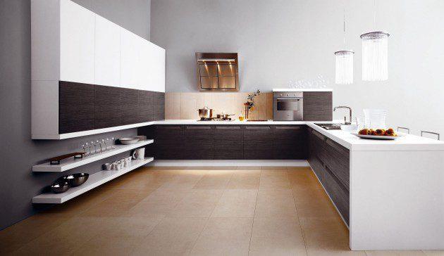 nhà bếp tối giản thoải mái