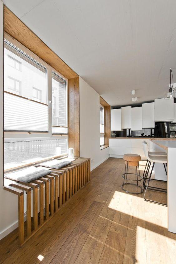 nhà bếp sàn gỗ