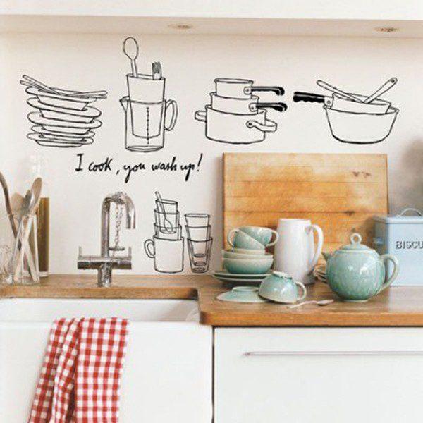 tranh vẽ tường bếp