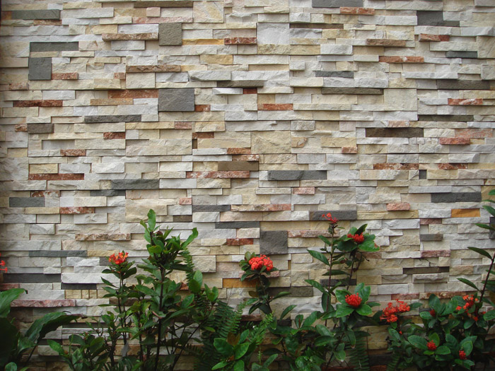 Gạch giả đá có nhiều màu sắc, có thể kết hợp xen kẽ hoặc đơn sắc