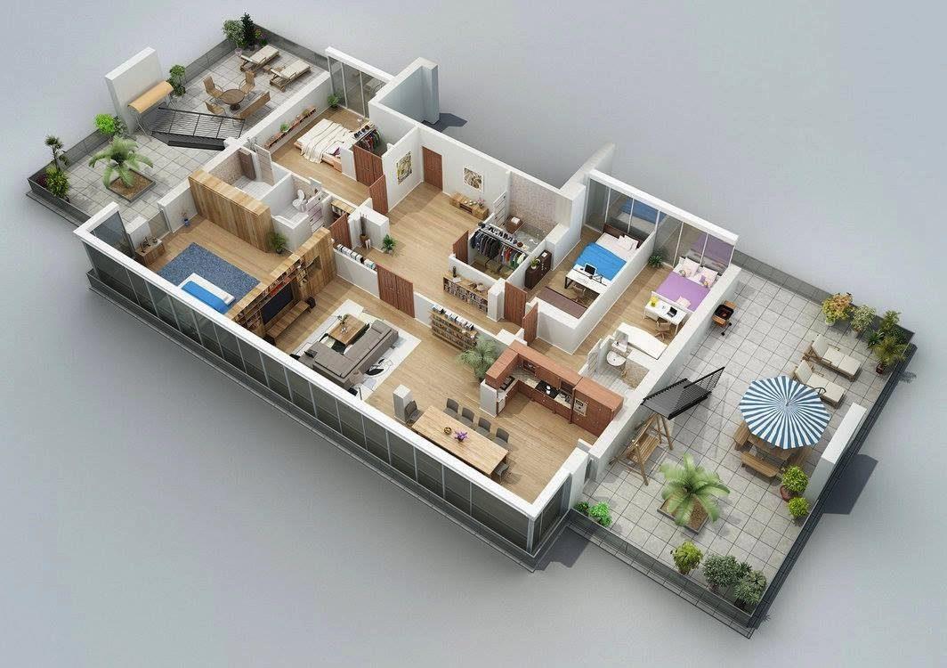 mau nha cap 4 3 phong ngu 6 - 99 mẫu nhà cấp 4 mái thái đẹp hiện đại, tinh tế (2020)