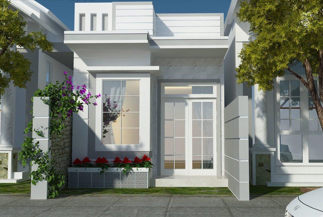 mau nha cap 4 duoi 100 trieu co san vuon 1 - 99 mẫu nhà cấp 4 mái thái đẹp hiện đại, tinh tế (2020)