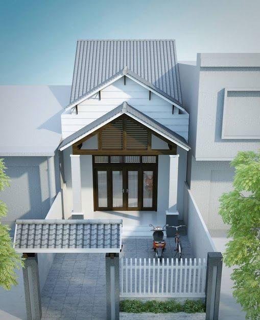 mau nha cap 4 duoi 100 trieu co san vuon 3 1 - 99 mẫu nhà cấp 4 mái thái đẹp hiện đại, tinh tế (2020)