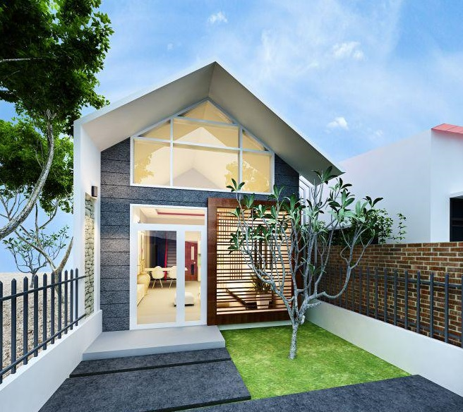 mau nha cap 4 duoi 100 trieu co san vuon 6 - 99 mẫu nhà cấp 4 mái thái đẹp hiện đại, tinh tế (2020)