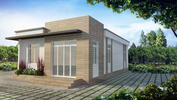 mau nha cap 4 duoi 100 trieu mai bang 2 - 99 mẫu nhà cấp 4 mái thái đẹp hiện đại, tinh tế (2020)
