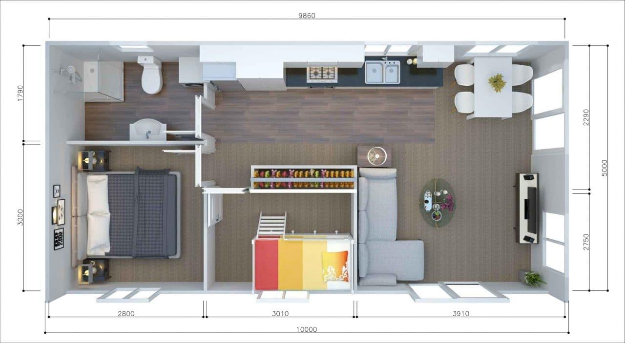 mau nha cap 4 ngang 5m 15 - 99 mẫu nhà cấp 4 mái thái đẹp hiện đại, tinh tế (2020)