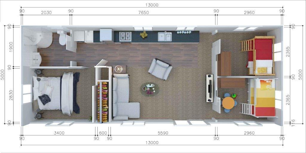 mau nha cap 4 ngang 5m 16 - 99 mẫu nhà cấp 4 mái thái đẹp hiện đại, tinh tế (2020)