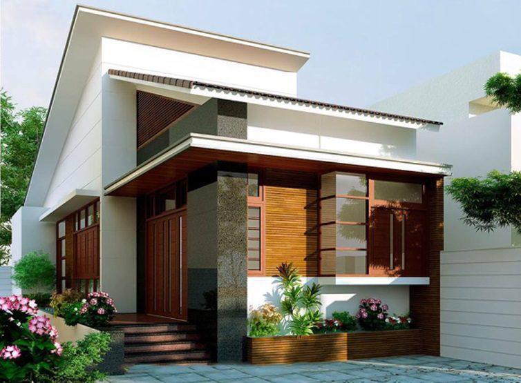 mau nha cap 4 nong thon mai lech 3 - 99 mẫu nhà cấp 4 mái thái đẹp hiện đại, tinh tế (2020)