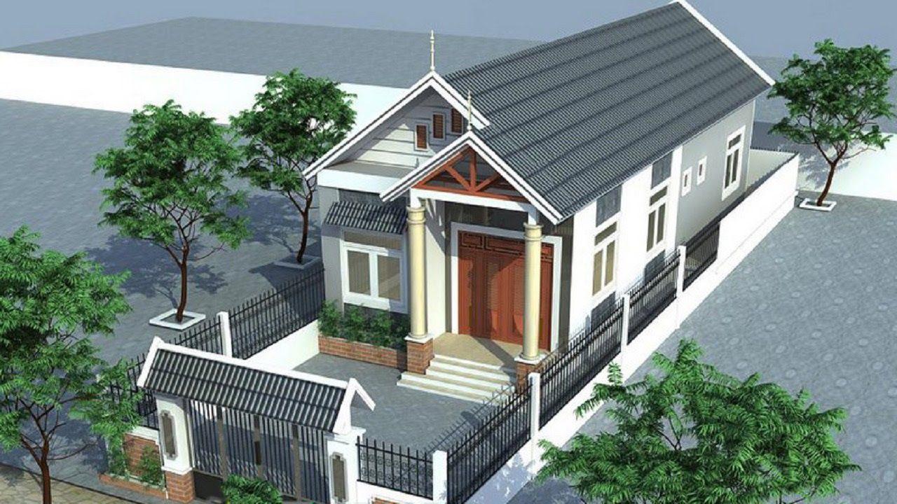 mau nha cap 4 nong thon mai thai 1 - 99 mẫu nhà cấp 4 mái thái đẹp hiện đại, tinh tế (2020)