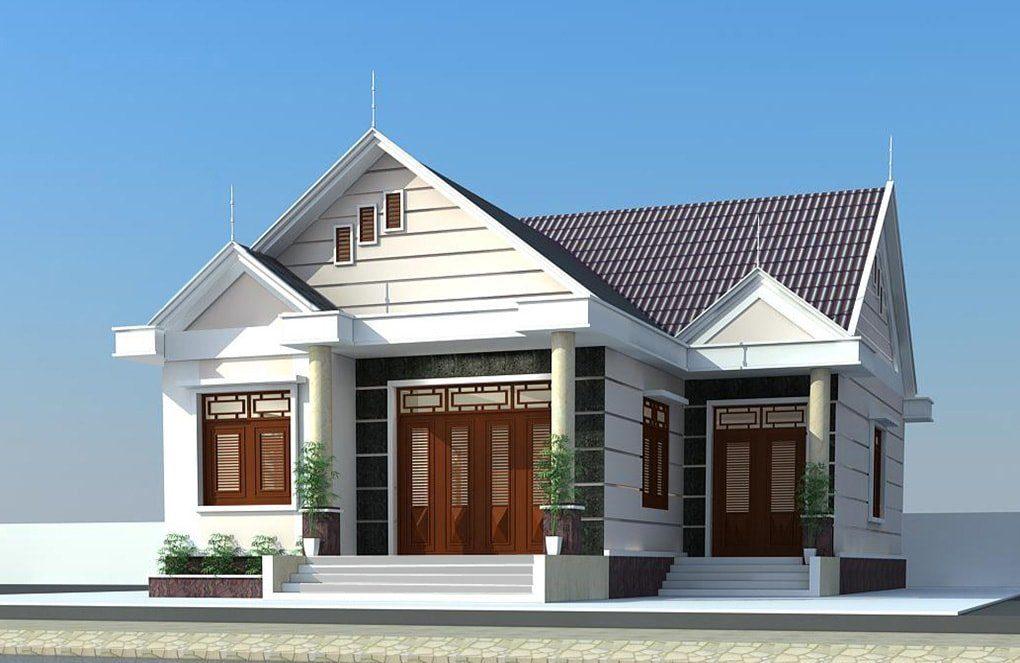 Mái thái đối xứng có thể chia thành nhiều phần trong một ngôi nhà