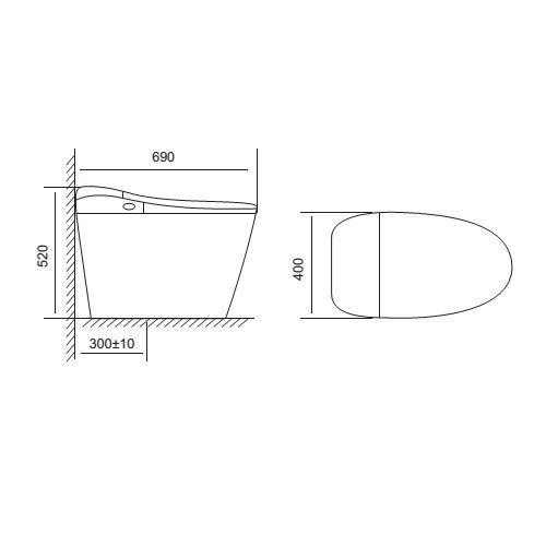 Bv V94 - Bàn Cầu V-SMART VIGLACERA V94.R - 220V (Thông Minh)