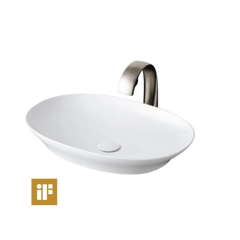 chau dat tren ban toto LT4724 - Chậu Lavabo Đặt Trên Bàn TOTO LT4724 (Phù hợp với những phòng tắm kích thước nhỏ)