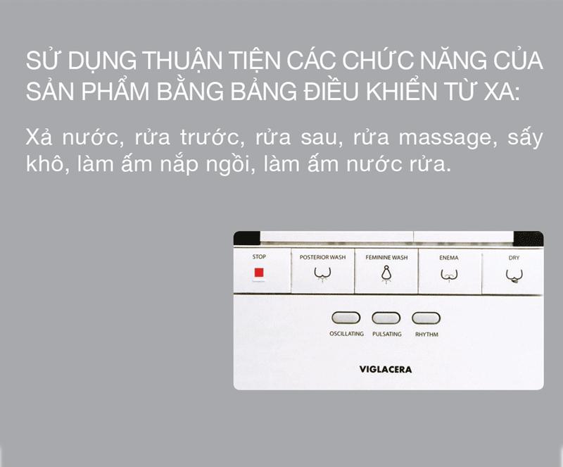 Tinh nang V90 5 - Bàn Cầu V-SMART VIGLACERA V93.RW - 220V (Thông Minh)