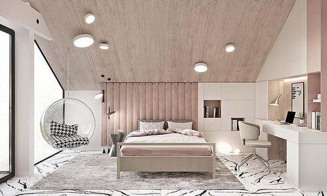 phong ngu mau hong vua la vua sang trong - 27 mẫu gạch màu hồng cho không gian thêm ấm cúng, lãng mạn (2020)