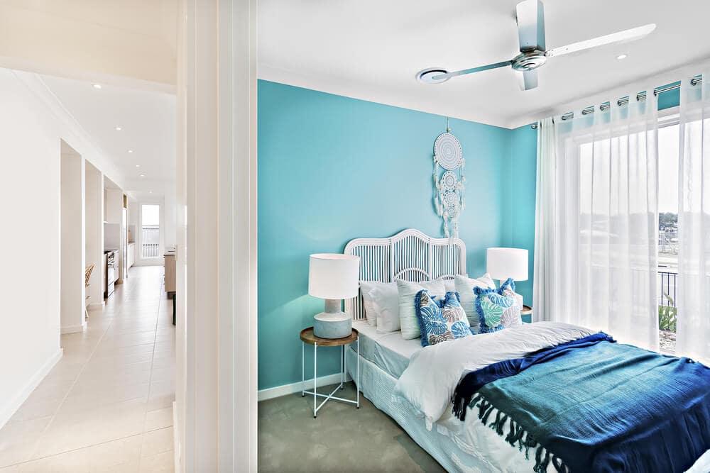 trang tri phong ngu14 - 39+ mẫu gạch màu xanh trong ứng dụng thiết kế nội thất cho gia đình