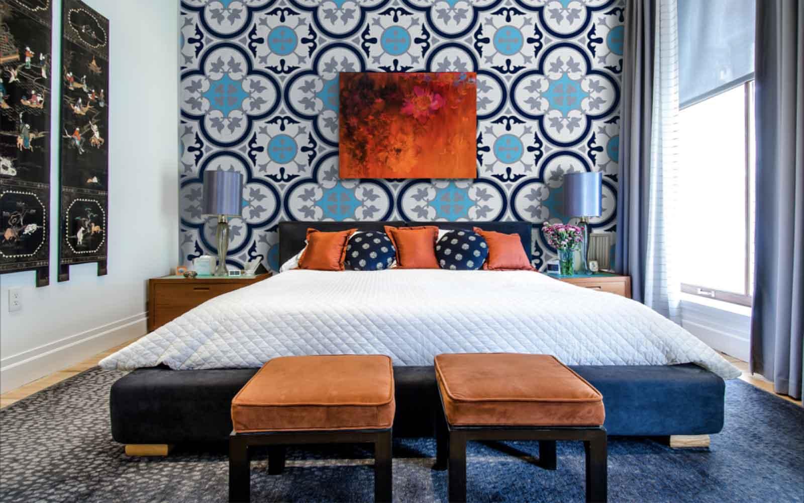 Có nên ốp gạch tường phòng ngủ?