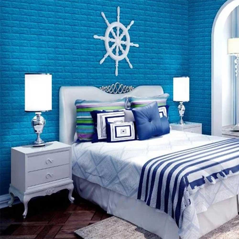 Chọn màu gạch thẻ xanh biển cho không gian mát mẻ hơn