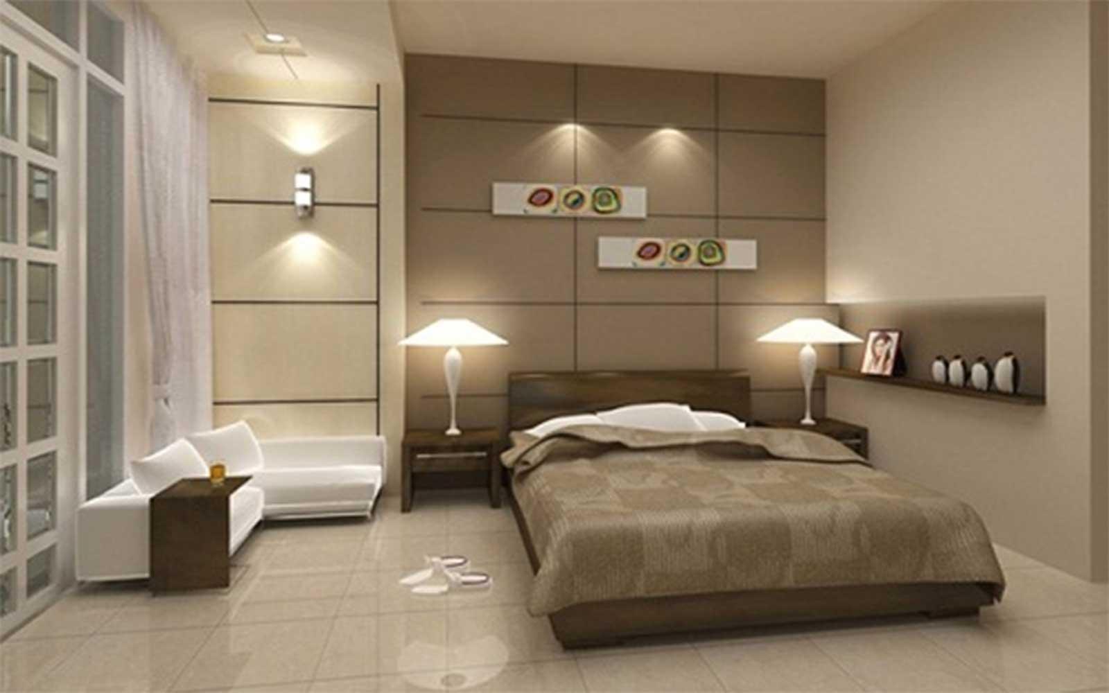 Chọn màu gạch ốp cũng rất quan trọng cho phòng ngủ có tính thẩm mỹ hơn