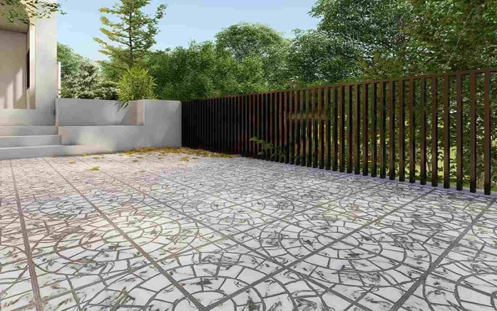 Gạch Vitto lát sân nhà làm tăng vẻ đẹp thẩm mỹ mặt tiền