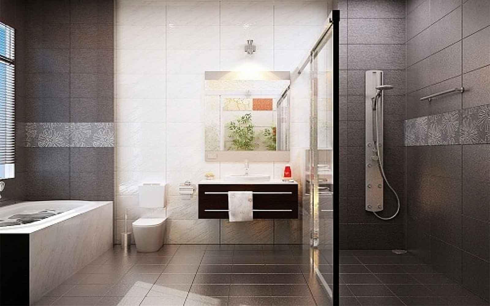 Chọn gạch lát nền chống trơn cho nhà tắm