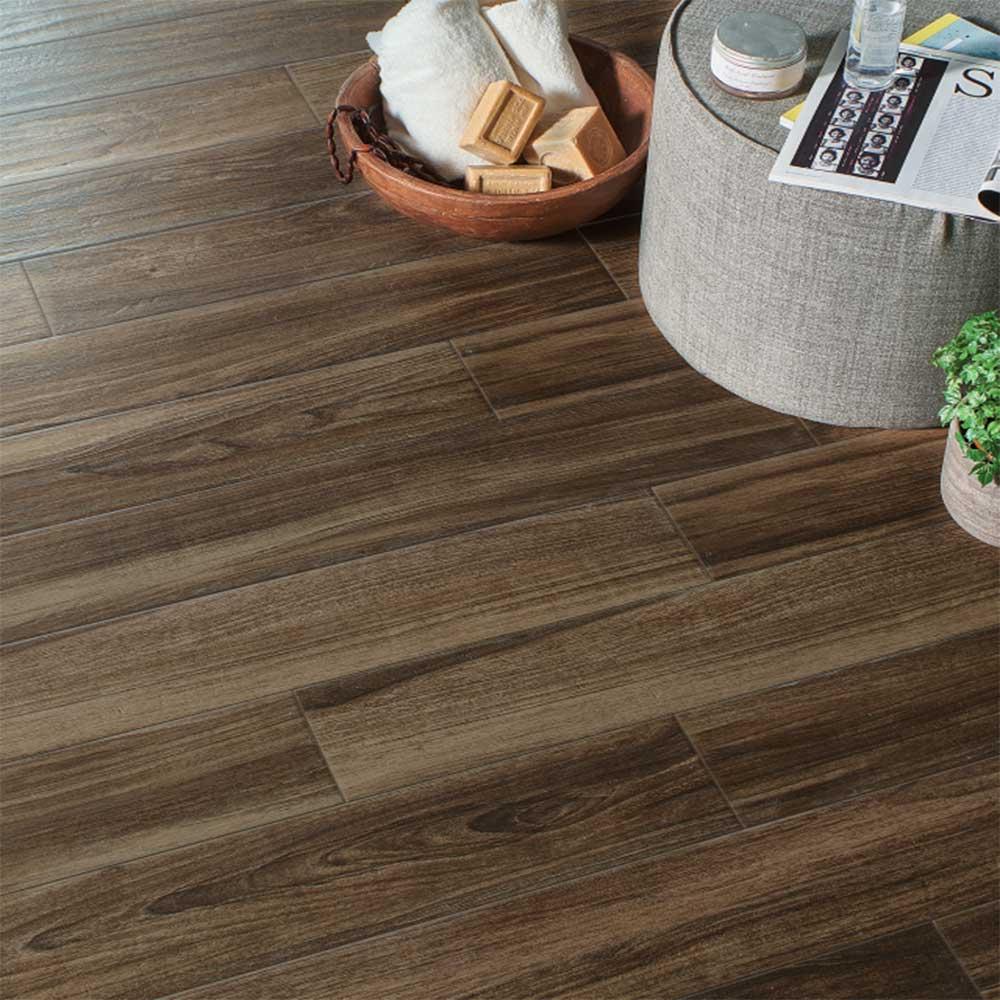 Các vân gạch giả gỗ chân thực đến từng đường nét